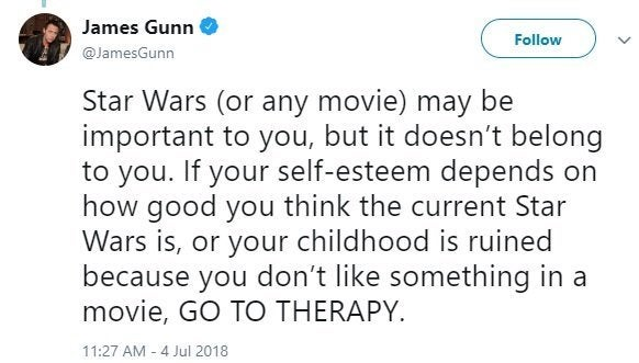 james gunn star wars trolls twitter 2
