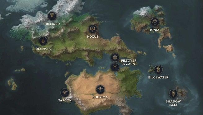 League of Legends Runeterra Map