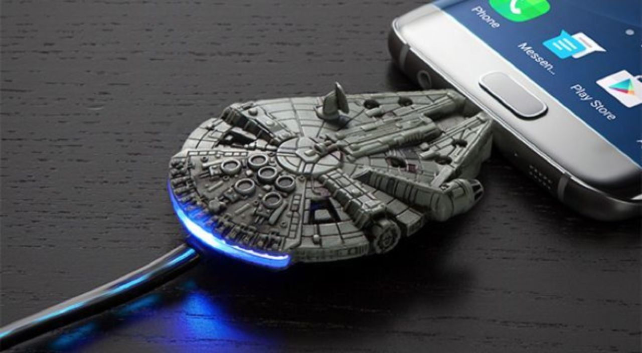 This 'Star Wars' Millennium Falcon Micro-USB Charging Cable is Only $10