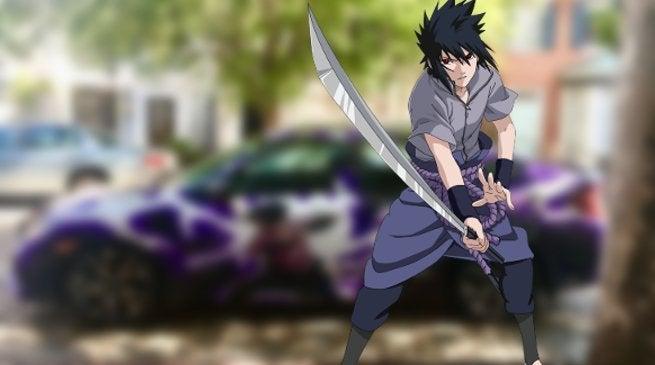 Naruto Sasuke Car Artwork