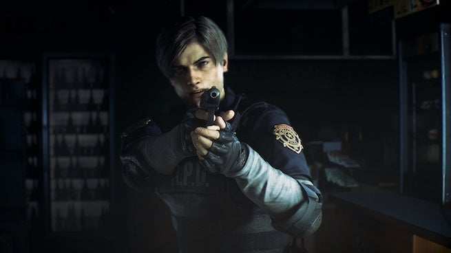 """resident evil 2 cop """"title ="""" resident evil 2 cop """"height ="""" 368 """"width ="""" 655 """"data item ="""" 1124162 """"    <figcaption> (Photo: Capcom) </figcaption></figure> <p> Today at Ani-Com & Games Hong Kong, Capcom made the world a little bit better by releasing some new gameplay footage of its upcoming <em> Resident Evil 2 Remake </em> . </p> <p> The best part: the new footage is plentiful, coming in at about 1<div class="""