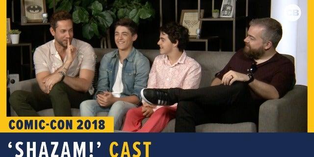 Shazam! Cast & Director - SDCC 2018 Exclusive Interview screen capture