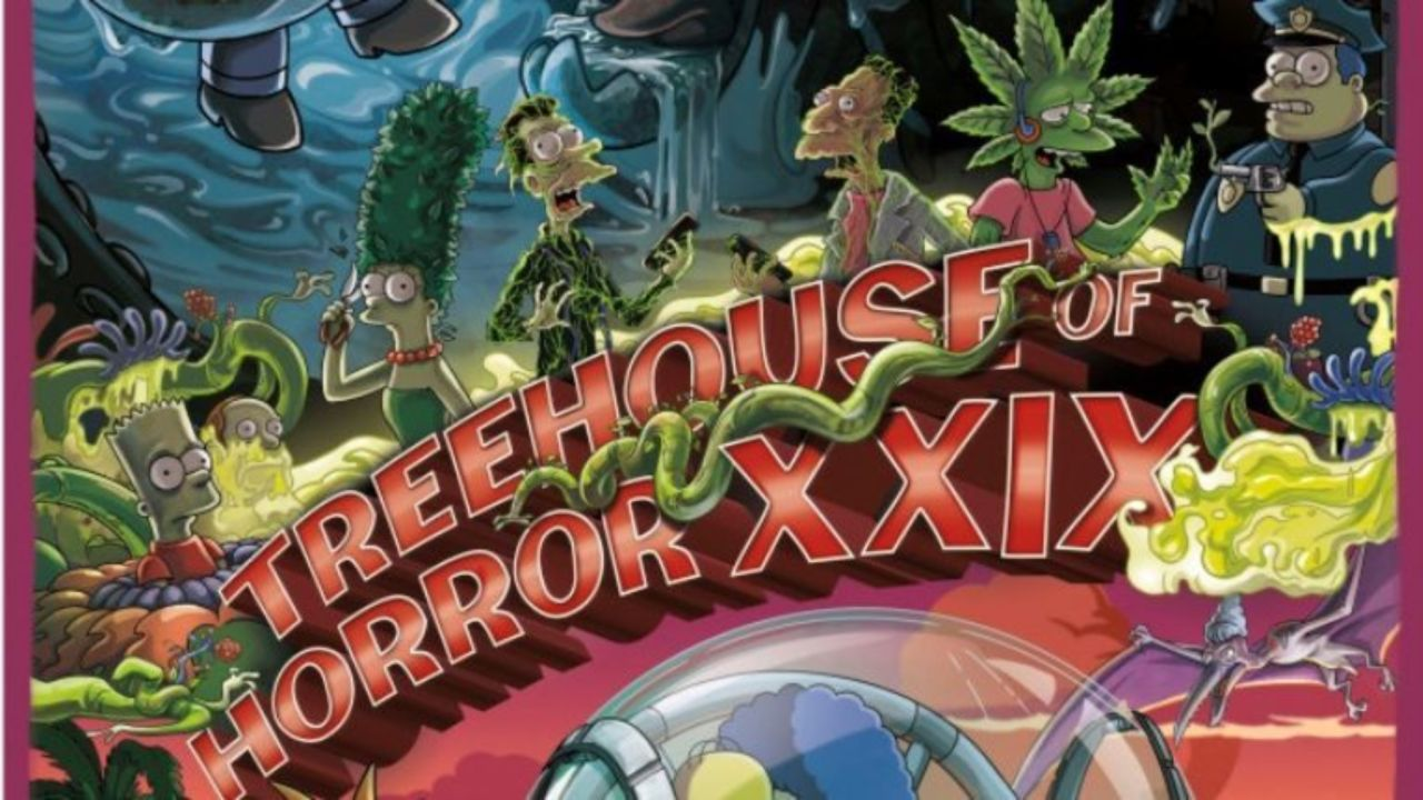 Halloween Simpsons Treehouse Of Horror.The Simpsons Scares Up First Treehouse Of Horror Xxix Poster And