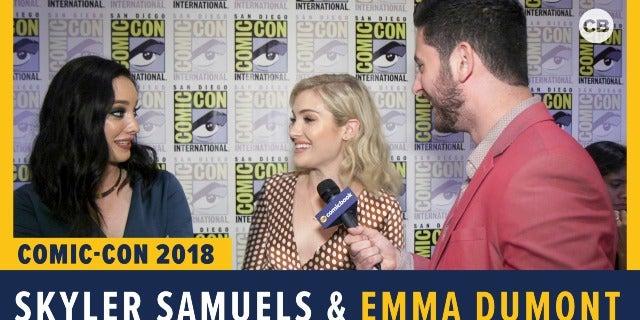 Skyler Samuels and Emma Dumont - SDCC 2018 Exclusive Interview screen capture