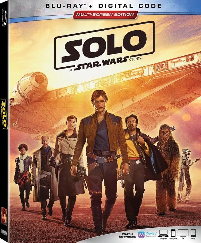 Solo Star Wars Story BLu-ray cover art