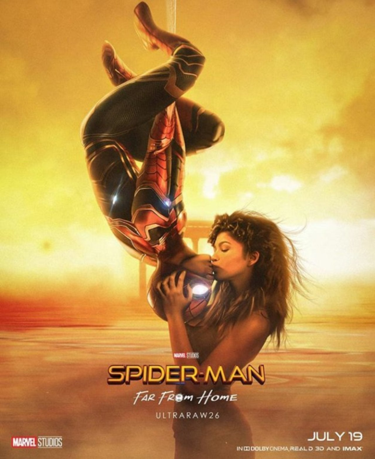 Spider Man Far From Home Fan Poster Pays Tribute To Original Film