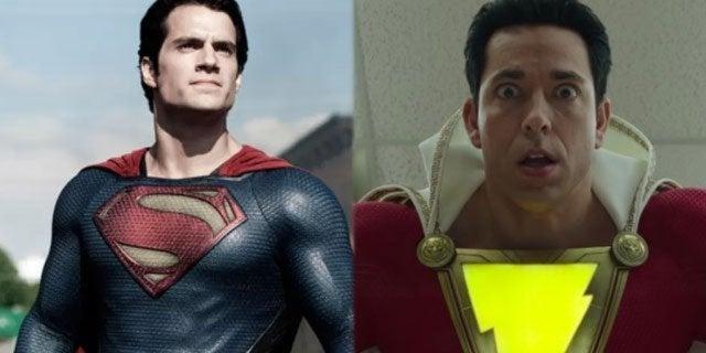 superman shazam henry cavill zachary levi