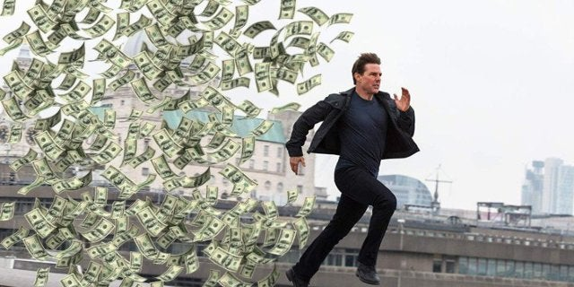 Tom Cruise highest grossing movies running connection