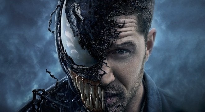 "Gift-New-Trailer-Coming-Soon ""Title ="" Gift-New-Trailer-Coming-Soon ""Height ="" 360 ""Width ="" 660 ""Data - item = ""1125384"" /> </figure> <p>  Venom is not marketed as a superhero, and that fits in perfectly with the characters that fans in comics have come to know. Sure, he does semihero things every now and then, but nobody will mistake him for Spider-Man. However, it is unfortunate not to have Spider-Man at all. </p> <blockquote class="