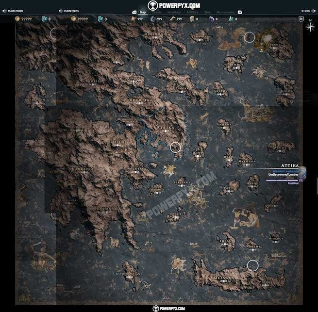 Assassin S Creed Odyssey Full World Map Revealed And It S Huge