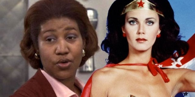 Aretha Franklin Lynda Carter Wonder Woman comicbookcom