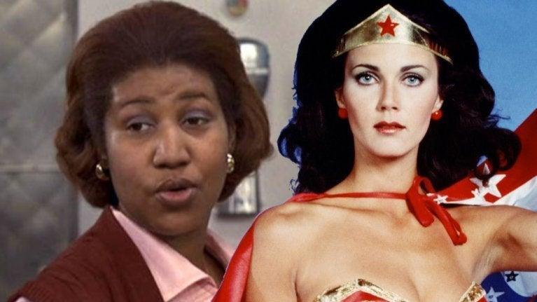 Aretha Franklin Lynda Carter Wonder Woman comicbookcom
