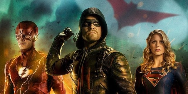 arrowverse crossover poster header