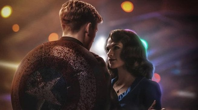Avengers 4 Ending Fan Art Captain America Peggy Carter