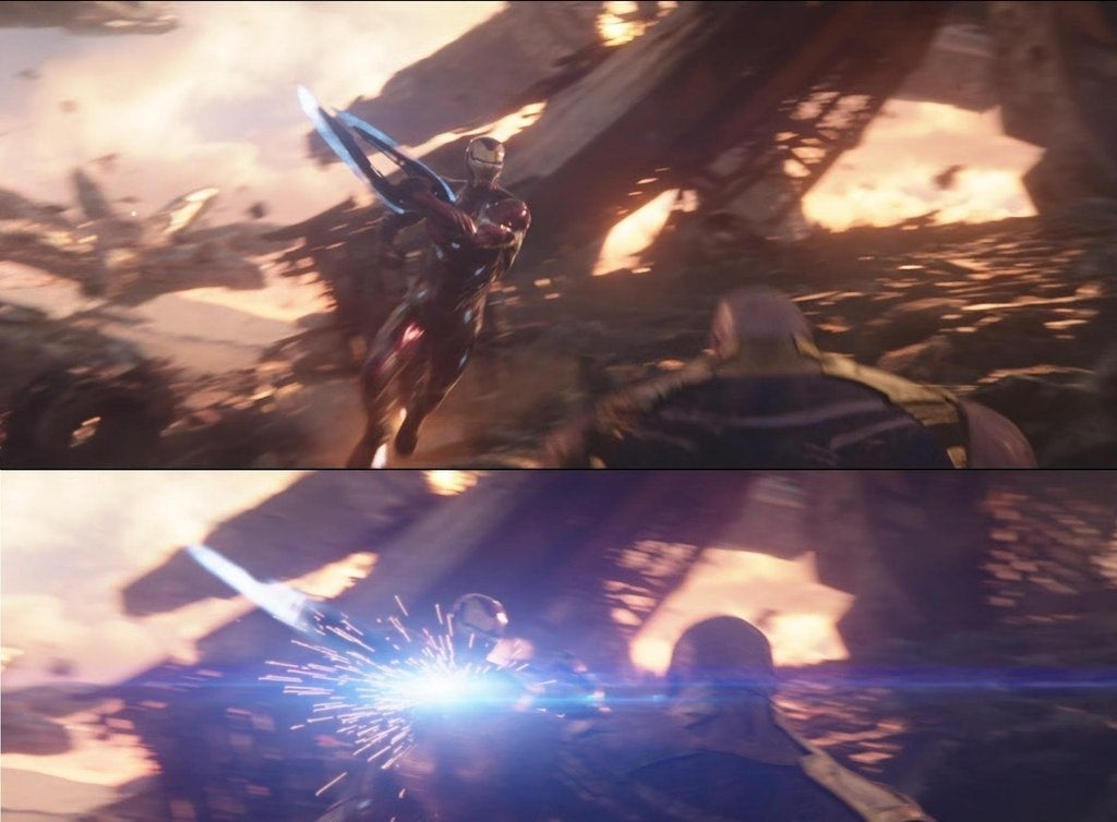 'Avengers: Infinity War' Image Shows How Close Iron Man Was to Cutting off Thanos' Hand
