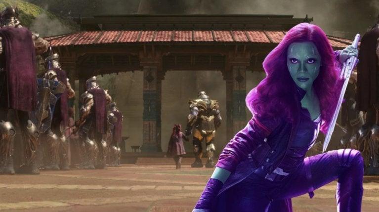 Avengers Infinity War Thanos young Gamora comicbookcom