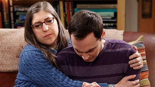 big bang theory amy sheldon crying