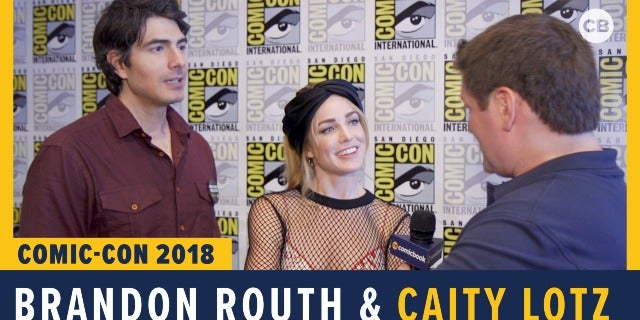 Brandon Routh and Caity Lotz - SDCC 2018 Exclusive Interview screen capture