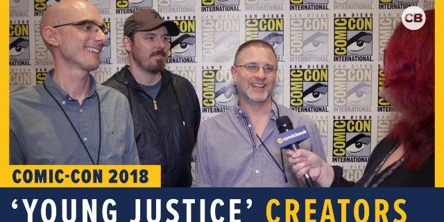 Brandon Vietti, Phillip Bourassa and Greg Weisman - SDCC 2018 Exclusive Interview screen capture