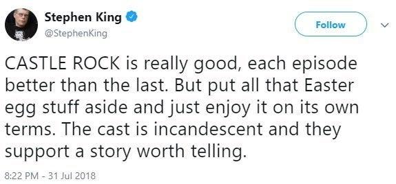 castle rock stephen king twitter
