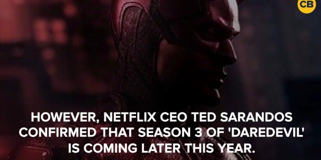 Daredevil Season 3 Confirmed for 2018 on Netflix screen capture