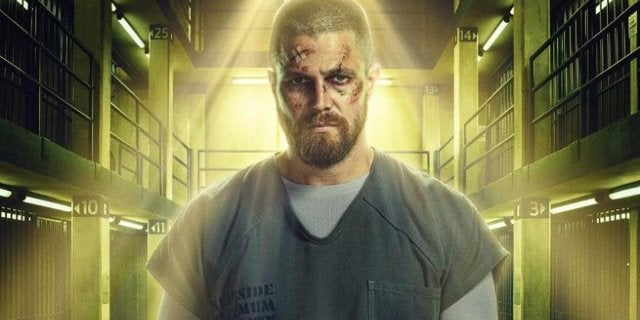 Green Arrow Season 7 Poster - Oliver Queen Super Max Prison