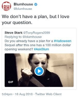 halloween producer claims there are currently no plans for a sequel