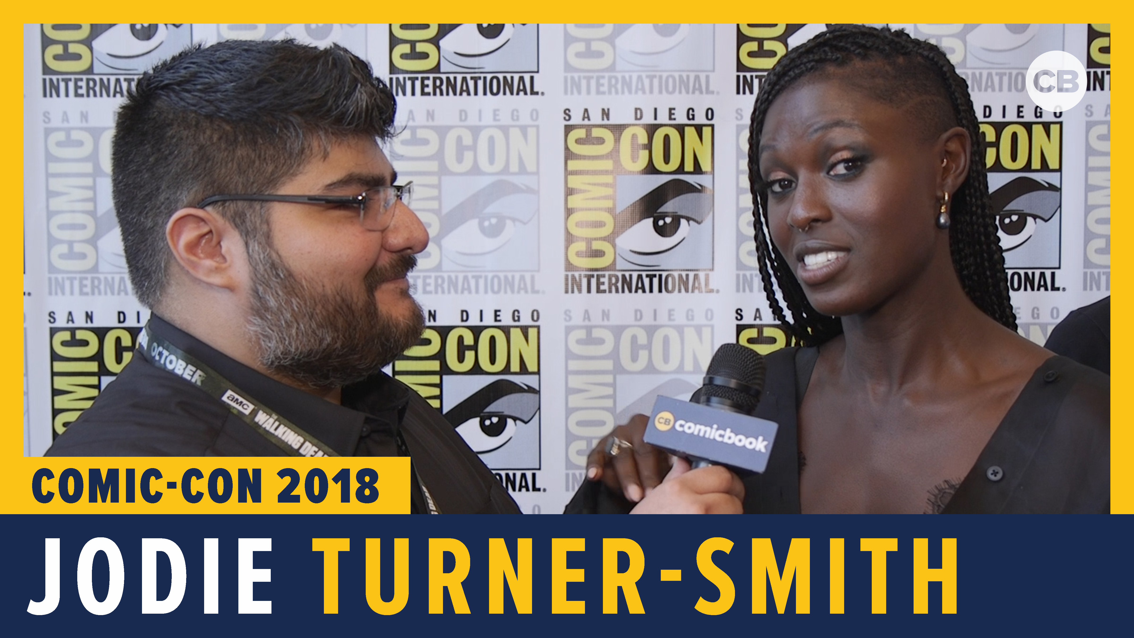 Jodie Turner-Smith - SDCC 2018 Exclusive Interview screen capture