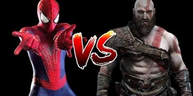 kratos vs spidey 2