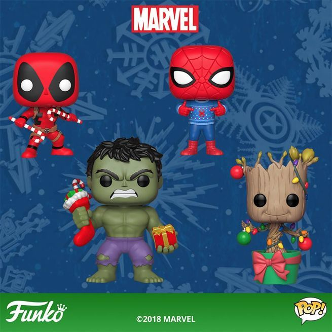 Marvel Christmas.Funko Launches Marvel Pop Figures For The Holidays