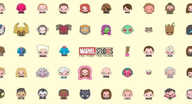 marvel studios 10th anniversary emoji poster