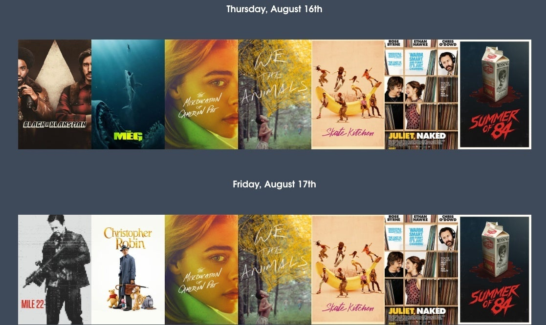 moviepass selections