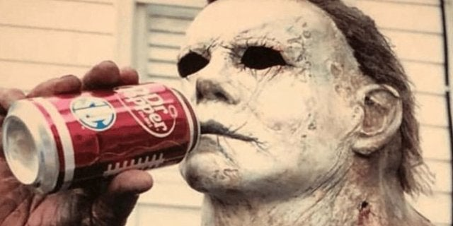 Nick Cast Michael Myers Drinking Dr Pepper (2018)