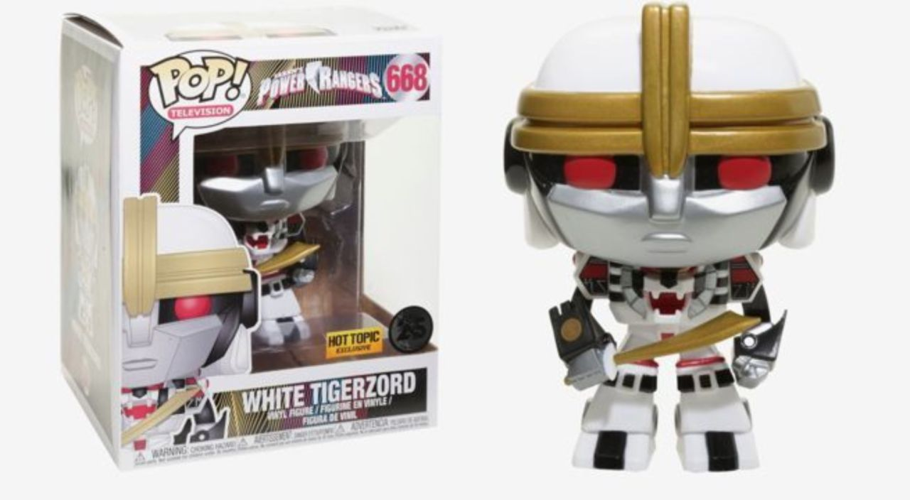 50d85e482f9 Funko s  Power Rangers  6-Inch White Tigerzord Pop Figure Has Arrived