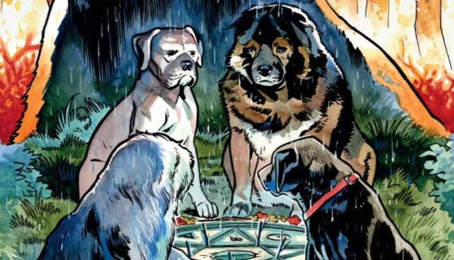 review beasts of burden wise dogs eldritch men 1 continues a