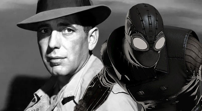 spider man into the spider verse nicolas cage spider man noir humphrey bogart