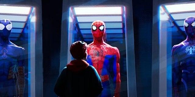 spider man into the spider verse still peter parker suits