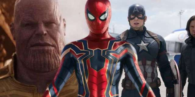 Spider-Man Thanos Captain America