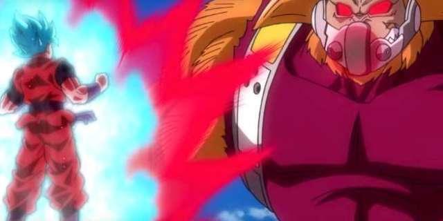 Super Dragon Ball Heroes Cumber Golden Great Ape vs Goku SSB