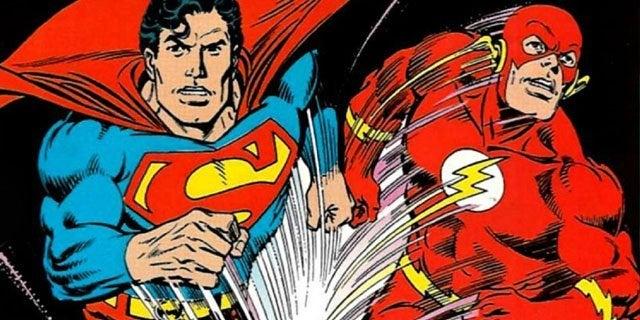 superman vs the flash race