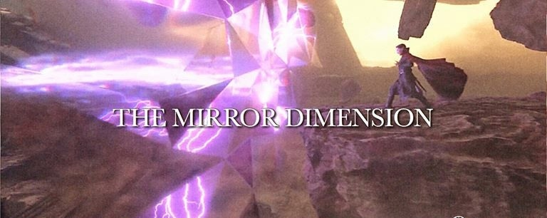 The mirror dimension &quot;title =&quot; The mirror dimension &quot;height =&quot; 306 &quot;width =&quot; 768 &quot;data-item =&quot; 1128196 &quot;/&gt; </figure> <p>  In comics, the mirror dimension is a parallel dimension that allows the user to practice his abilities and fight his enemies without being distracted from the real world World watched or influenced will also be used to include threats that would make sense of why Doctor Strange would use it in the fight against Thanos. </p><div><script async src=