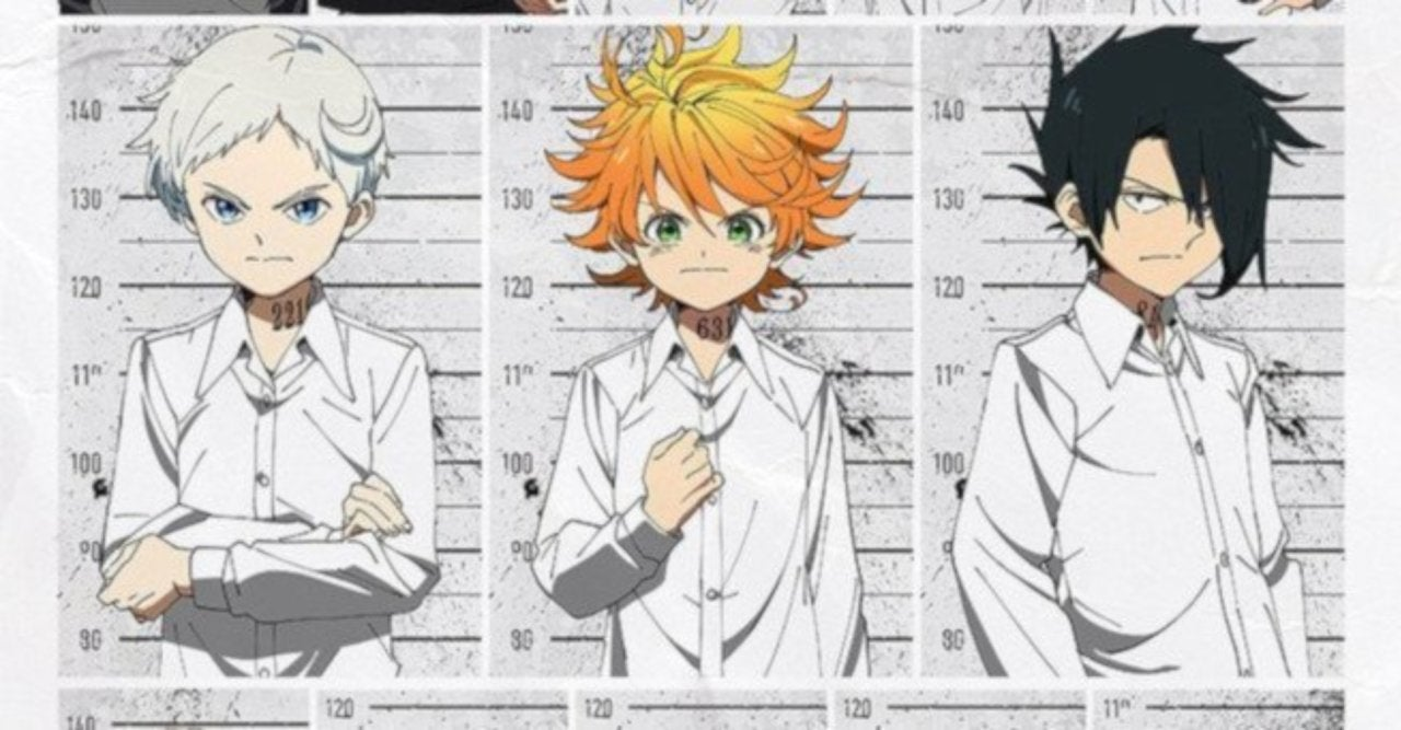 The promised neverland anime reveals official character designs staff