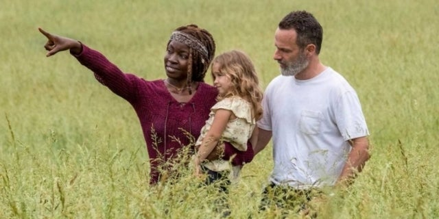 The Walking Dead season 9 Rick Grimes Michonne Judith