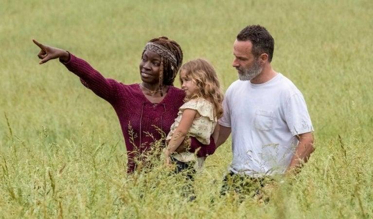 The Walking Dead season 9 Rick Grimes Michonne Judith