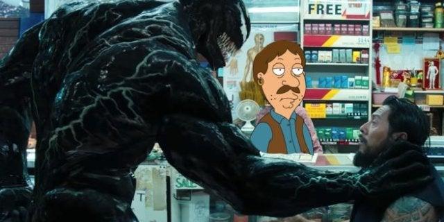 Venom Head Bite Scene Family Guy Mashup