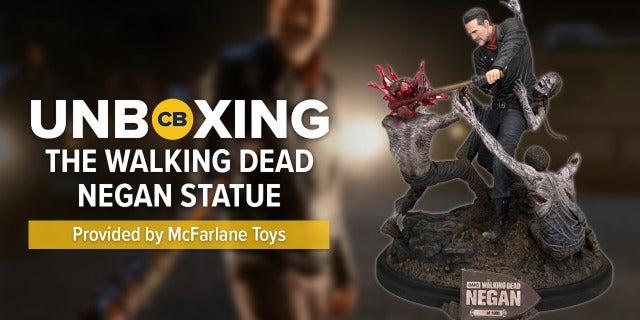 'The Walking Dead' Negan Resin Statue UNBOXING screen capture