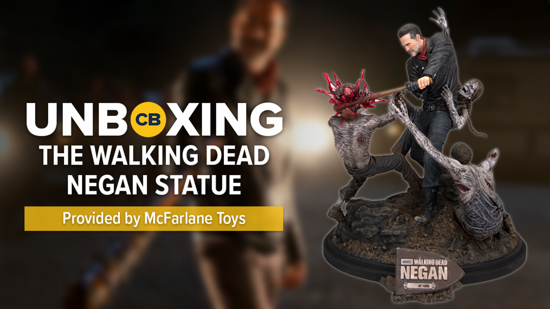 'The Walking Dead' Negan Resin Statue UNBOXING screen capture