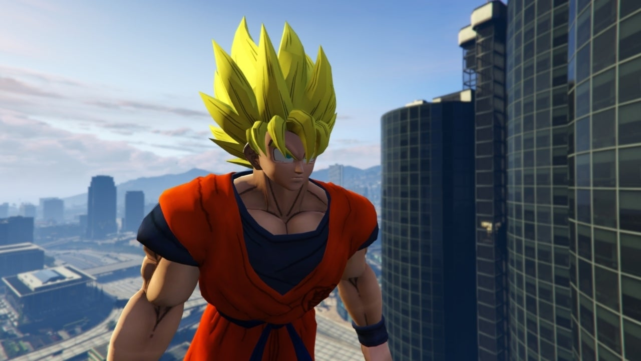 Dragon Ball Z's Goku Invades 'GTA V'