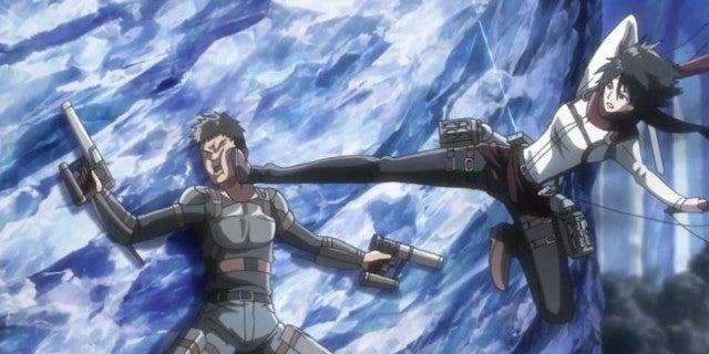 Attack On Titan Episode 44 Mikasa vs Interior Police Fight Scene