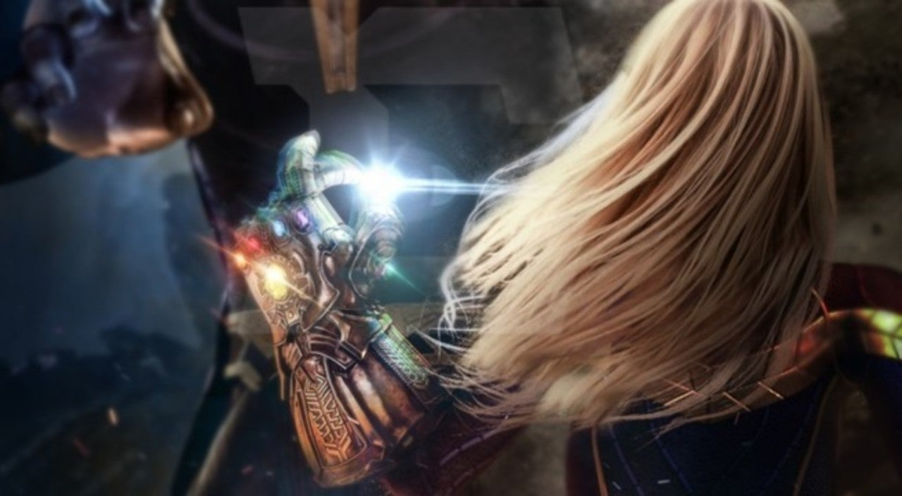 avengers 4' fan art shows epic captain marvel and thanos showdown